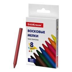 Восковые мелки ErichKrause® Basic, 8 цветов 51563