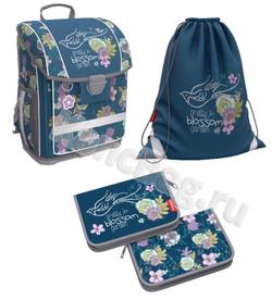 Ученический ранец с пластиковым дном ErichKrause® ErgoLine® 16L Blossom с наполнением 51567/1