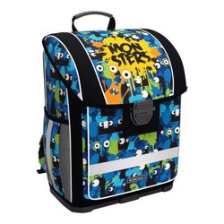 Ученический ранец с пластиковым дном ErichKrause® ErgoLine® 16L Monsters 51579