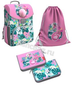 Ученический ранец ErichKrause® ErgoLine® 15L Rose Flamingo с наполнением 51589/1