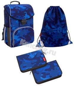 Ученический ранец ErichKrause® ErgoLine® 15L Sea Camo с наполнением 51590/1