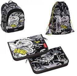 Ученический рюкзак ErichKrause® ErgoLine® 15L Dinosaur Park с наполнением 51606/1