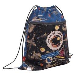 Мешок для обуви ErichKrause® с карманом на молнии 500х410мм Red Planet 51615