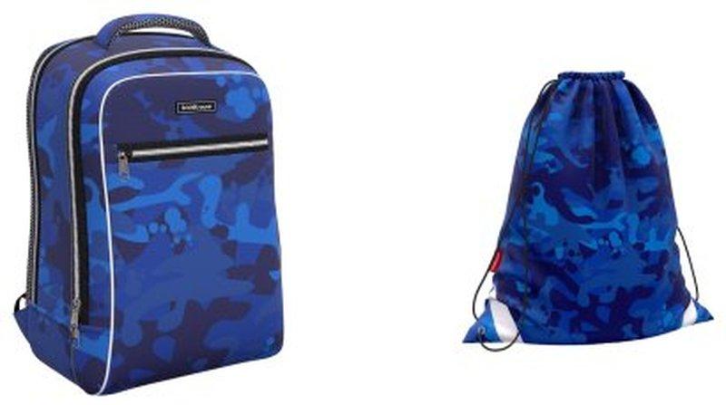Ученический рюкзак ErichKrause® ErgoLine® Urban 18L Sea Camo с наполнением 51617/1