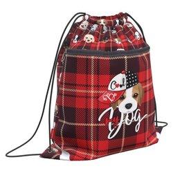 Мешок для обуви ErichKrause® с карманом на молнии 500х410мм Cute Dog 52130