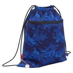 Мешок для обуви ErichKrause® с карманом на молнии 500х410мм Sea Camo 52132