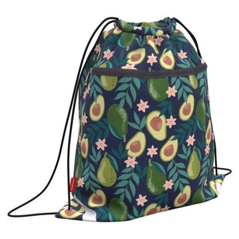 Мешок для обуви ErichKrause® с карманом на молнии 500х410мм Avocado Dusk 52137