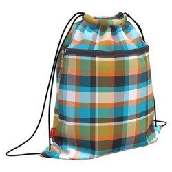 Мешок для обуви ErichKrause® с карманом на молнии 500х410мм Colorado Tartan 52138