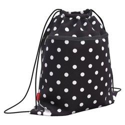 Мешок для обуви ErichKrause® с карманом на молнии 500х410мм Dots in Black 52139