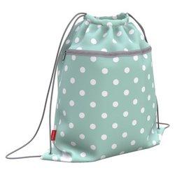 Мешок для обуви ErichKrause® с карманом на молнии 500х410мм Dots in Mint 52140