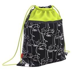 Мешок для обуви ErichKrause® с карманом на молнии 500х410мм Line Art 52142