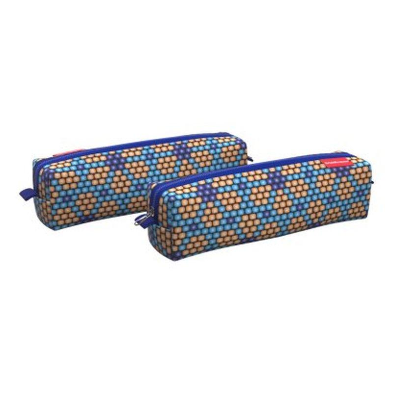 Пенал квадро mini ErichKrause® 210x50x50мм Blue&Orange Beads 52198