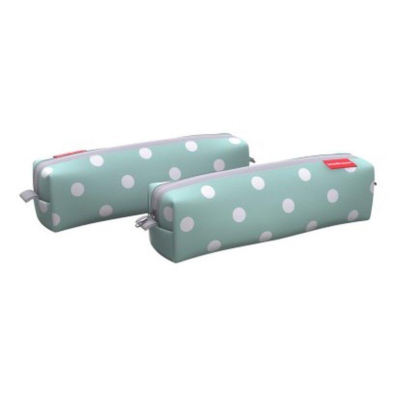 Пенал квадро mini ErichKrause® 210x50x50мм Dots in Mint 52206