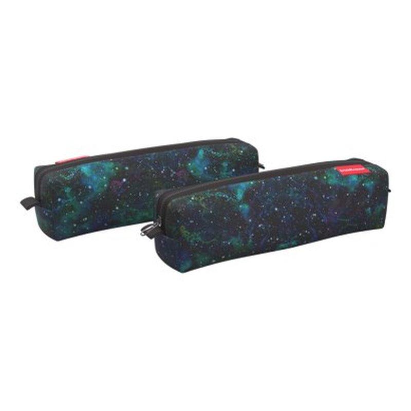 Пенал квадро mini ErichKrause® 210x50x50мм Emerald Stardust 52231