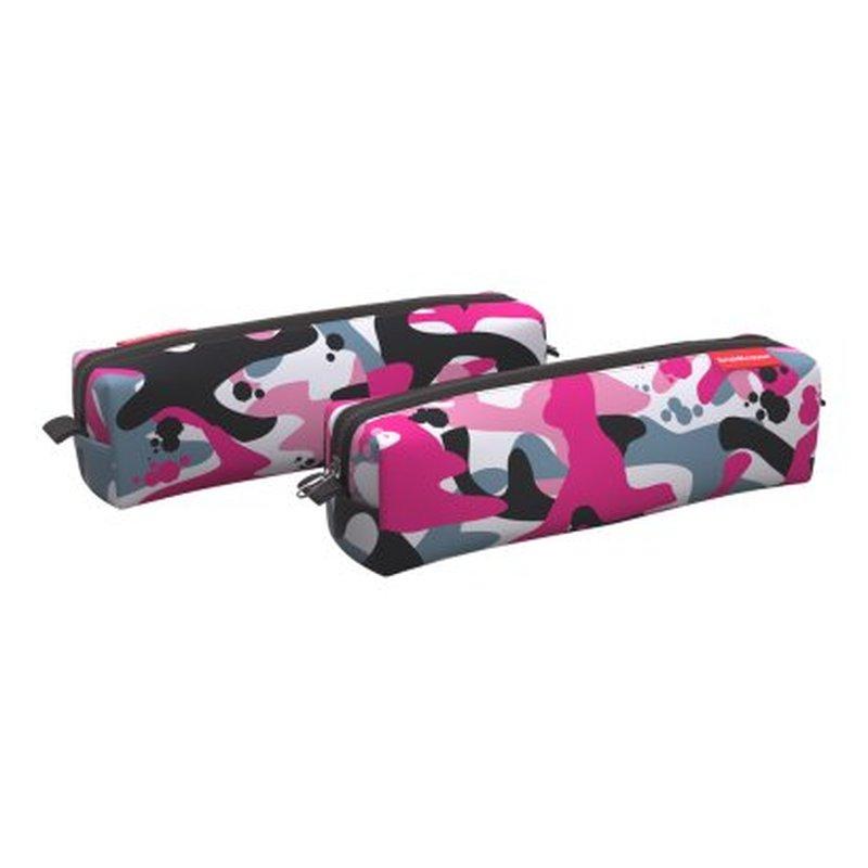 Пенал квадро mini ErichKrause® 210x50x50мм Pink Camo 52235
