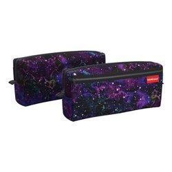Пенал квадро с двумя отделениями ErichKrause® 210x100x50мм Purple Stardust 52298