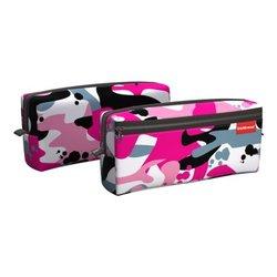 Пенал квадро с двумя отделениями ErichKrause® 210x100x50мм Pink Camo 52304