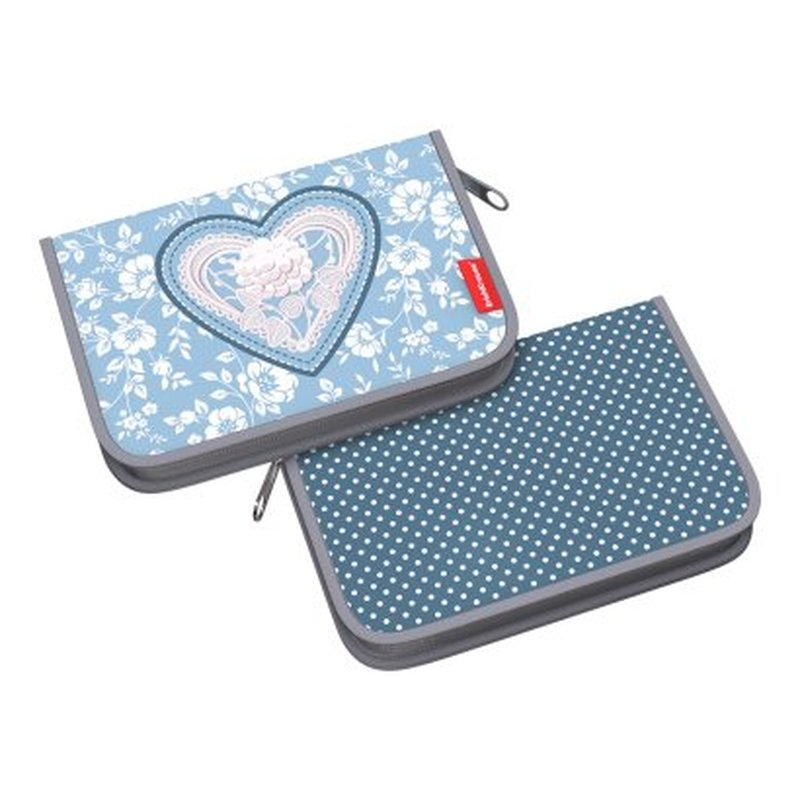 Пенал-книжка без наполнения ErichKrause® 135x205x30мм Lacey Heart 52548