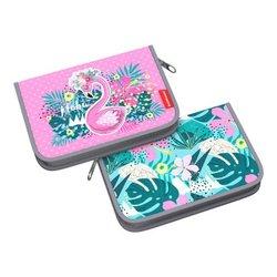 Пенал-книжка без наполнения ErichKrause® 135x205x30мм Rose Flamingo 52551