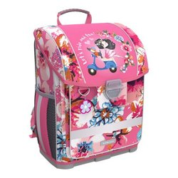 Ученический ранец с пластиковым дном ErichKrause® ErgoLine® 16L Flower Scooter 52572