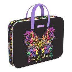 Папка текстильная на молнии ErichKrause® с ручками Butterfly, A4+ 52653