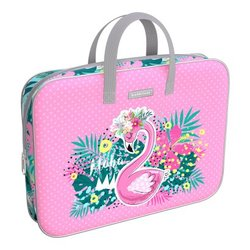 Папка текстильная на молнии ErichKrause® с ручками Rose Flamingo, A4+ 52655
