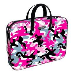 Папка текстильная на молнии ErichKrause® с ручками Pink Camo, A4+ 52668