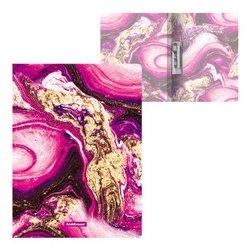 Папка с боковым зажимом пластиковая ErichKrause® Marble Amethyst, А4 52768