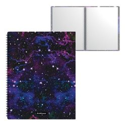 Папка файловая пластиковая на спирали ErichKrause® Purple Stardust, с 40 прозрачными карманами, A4 52780