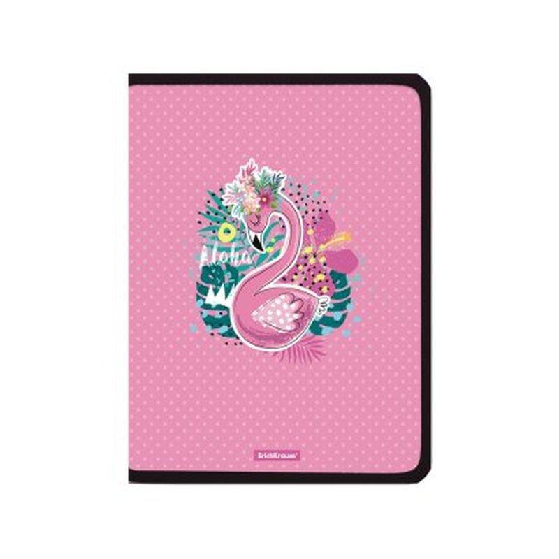 Папка для тетрадей на молнии пластиковая ErichKrause® Rose Flamingo, А4+ 52838