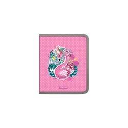 Папка для тетрадей на молнии пластиковая ErichKrause® Rose Flamingo, А5+ 52844