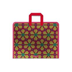 Папка на молнии пластиковая с ручками ErichKrause® Pink&Yellow Beads, А4+ (в пакете по 4 шт.) 52847