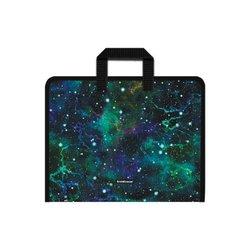 Папка на молнии пластиковая с ручками ErichKrause® Emerald Stardust, А4+ 52848
