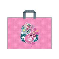Папка на молнии пластиковая с ручками ErichKrause® Rose Flamingo, А3 52853
