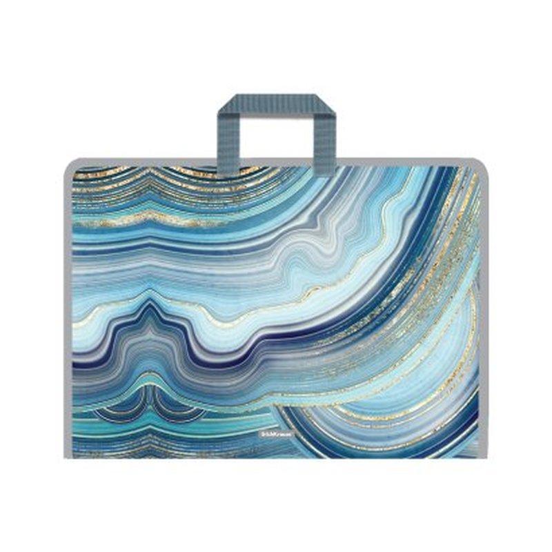 Папка на молнии пластиковая с ручками ErichKrause® Marble Kyanite, А3 52854
