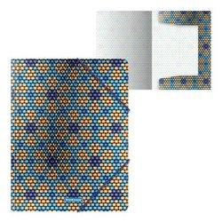 Папка на резинках пластиковая ErichKrause® Blue&Orange Beads, A4 52898