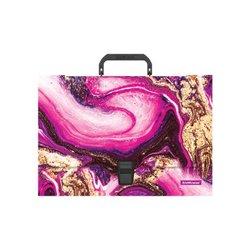 Портфель пластиковый ErichKrause® Marble Amethyst, A4 52915