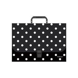 Портфель пластиковый ErichKrause® Dots in Black, A4 52917