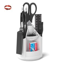 Набор настольный на вращающейся подставке ErichKrause® Mini Desk, белый 53225