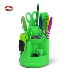 Набор настольный на вращающейся подставке ErichKrause® Mini Desk, Neon Solid, зеленый 53228
