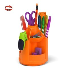 Набор настольный на вращающейся подставке ErichKrause® Mini Desk, Neon Solid, оранжевый 53229