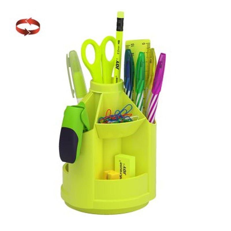 Набор настольный на вращающейся подставке ErichKrause® Mini Desk, Neon Solid, желтый 53230