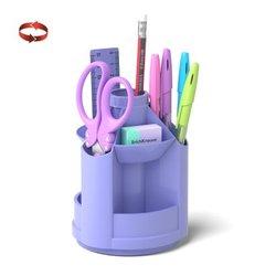 Набор настольный на вращающейся подставке ErichKrause® Mini Desk, Pastel, фиолетовый 53232