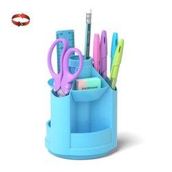 Набор настольный на вращающейся подставке ErichKrause® Mini Desk, Pastel, голубой 53233