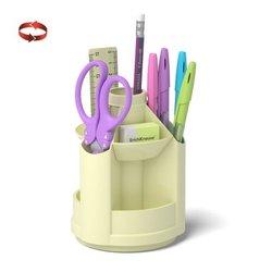 Набор настольный на вращающейся подставке ErichKrause® Mini Desk, Pastel, желтый 53234