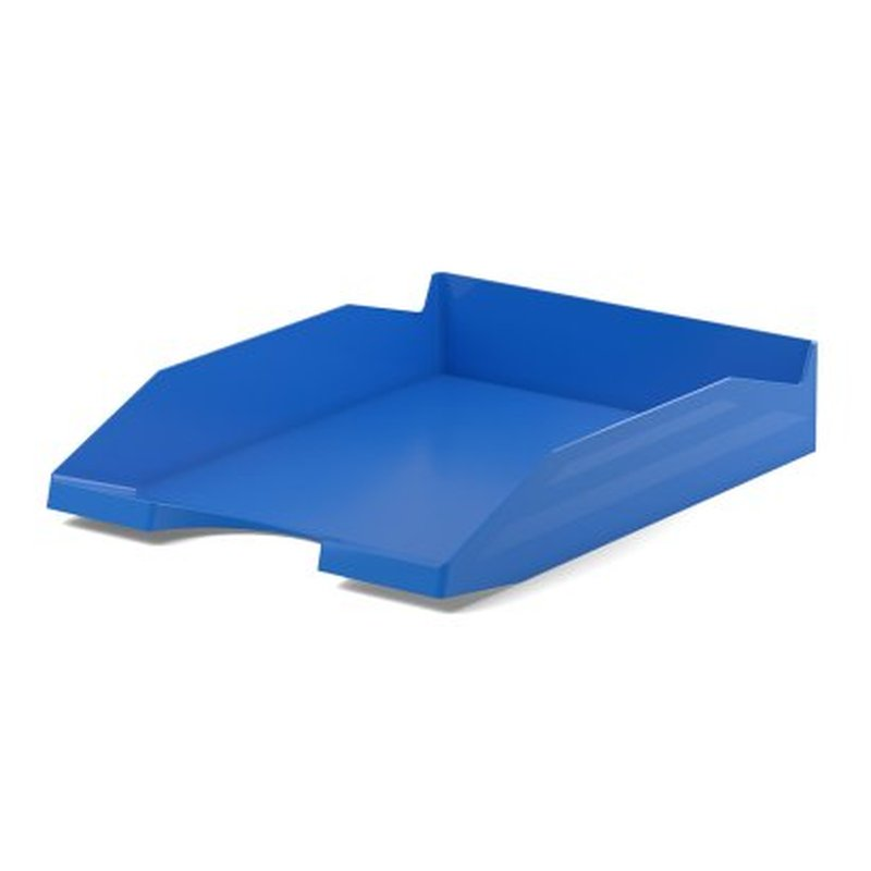 Лоток пластиковый для бумаг ErichKrause® Office, синий 53245