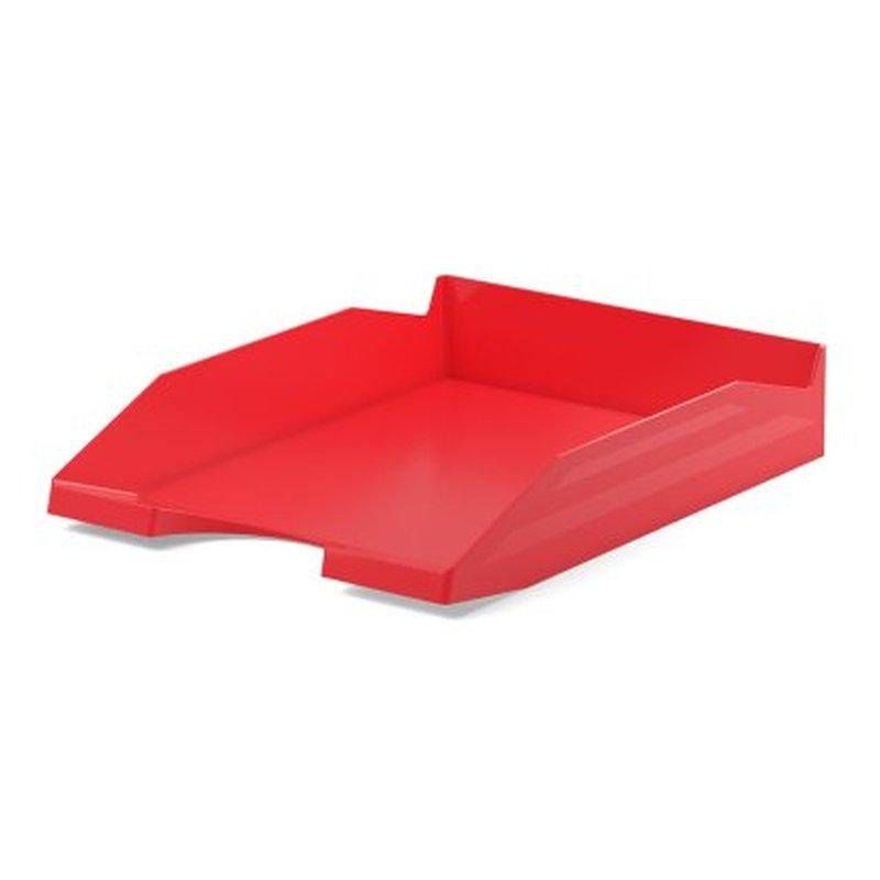 Лоток пластиковый для бумаг ErichKrause® Office, красный 53246