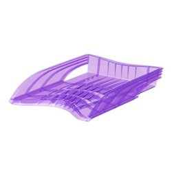 Лоток пластиковый для бумаг ErichKrause® S-Wing, Standard, сиреневый 53247