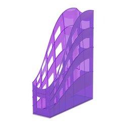 Подставка пластиковая для бумаг вертикальная ErichKrause® S-Wing, Standard, сиреневый 53249
