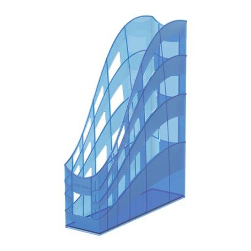 Подставка пластиковая для бумаг вертикальная ErichKrause® S-Wing, Standard, голубой 53250